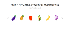 Multiple Item Product Carousel Bootstrap