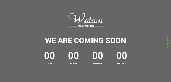 Walam – Multi-Purpose Coming Soon free Html Bootstrap Template