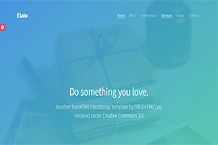 Elate Free HTML5 Bootstrap Template