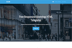 Iscon Free Start Bootstrap Website Template