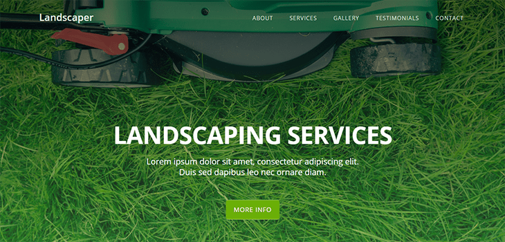free landscaping website templates