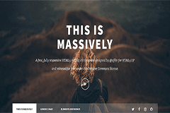 Massively – Free Responsive Blogging HTML5 Bootstrap Template