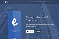 Free Bootstrap eBook Template Elio