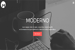 Moderno – Bootstrap Free HTML5 Responsive Template
