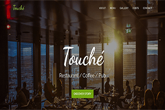 Touche Free Restaurant Website Template