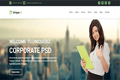 UniqueBiz – Bootstrap Corporate HTML Template