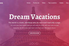 Voyage – Bootstrap Website Template