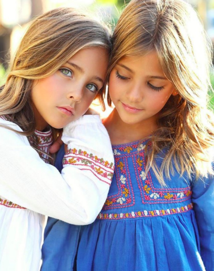 "Sisters dubbed ""the most beautiful twins in the world ..."