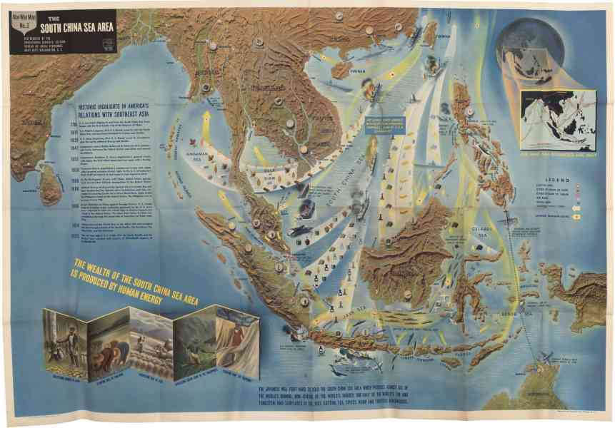 Nav War Maps of the Mediterranean and South China Sea   Rare     Share this map