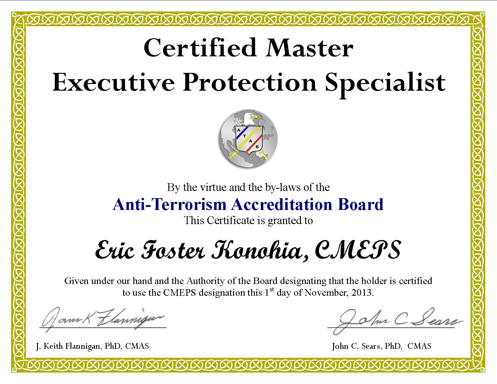 Executive Protection Certification