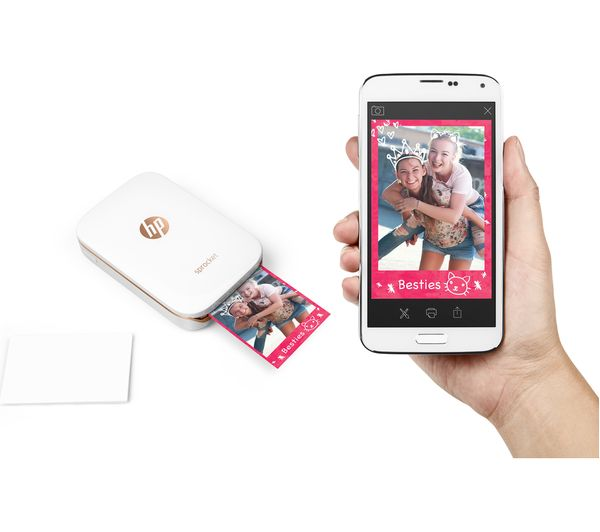 Hp Sprocket Mobile Photo Printer White Deals Pc World