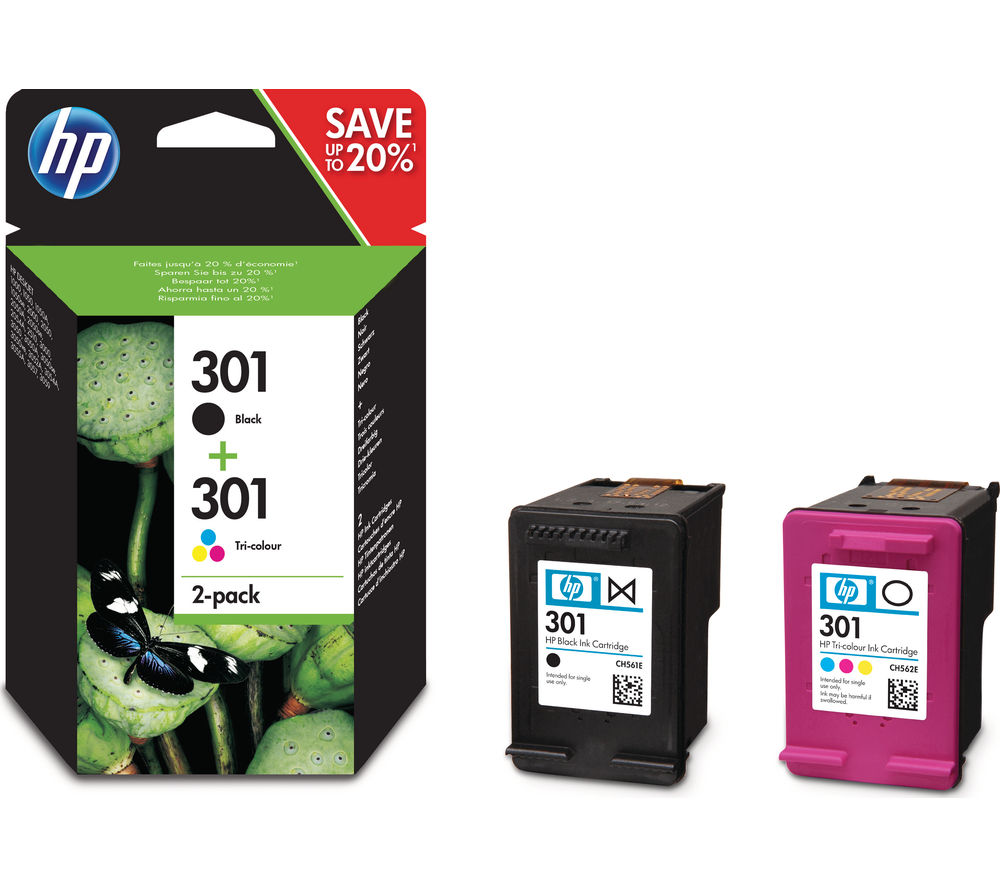 Hp 301 Black Amp Tri Colour Ink Cartridges Twin Pack Fast