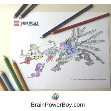 180  Free Printable LEGO Coloring Pages    Brain Power Boy New LEGO Coloring pages now available  Click to get these free printable  Ninjago coloring pages