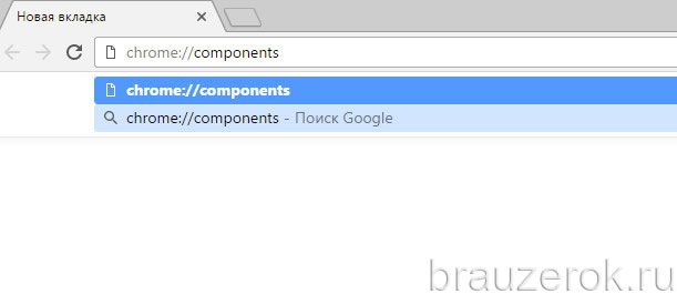 Chrome: // компоненттер
