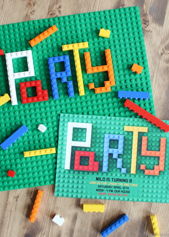 How to Make Lego Party Invitations   Bren Did Looking for original or free Lego Birthday Party invitations  This  step by step
