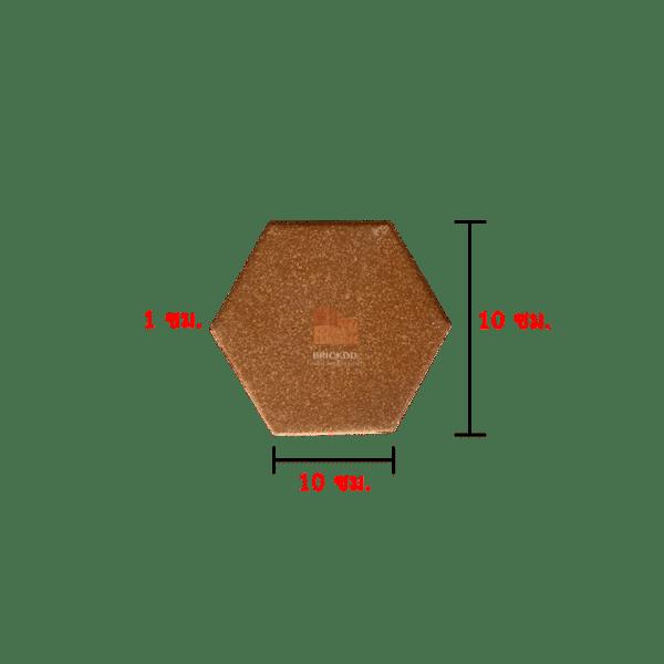 กระเบื้องปูพื้น 6 เหลี่ยม สีพวงแสด 10x10