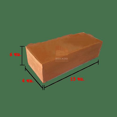 อิฐโชว์เรียบ 6x15 ซม. (เกรด A)