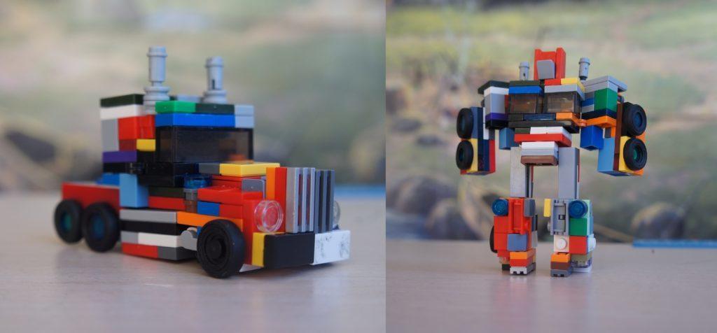 Робот трансформер из лего