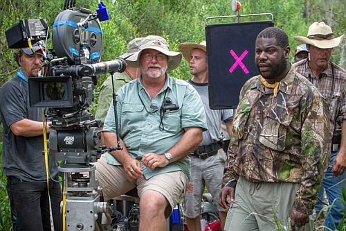 Sean Bobbitt (center) with Steve McQueen on the set of 12 Years a Slave