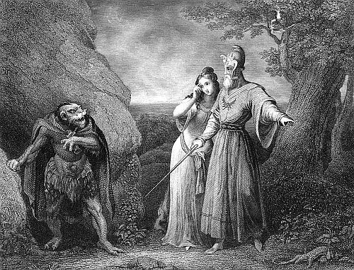 C. W. Sharpe, Caliban. Miranda. Prospero. The Tempest. (1875.)