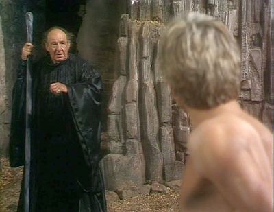 Prospero and Ariel in the BBC version