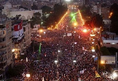 The protests to force Morsi out of power in 2013 were described as the largest in history.