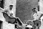 Jerome Robbins and Robert Wise during the filming of West Side Story