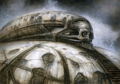 Concept art by H. R. Giger for Dune