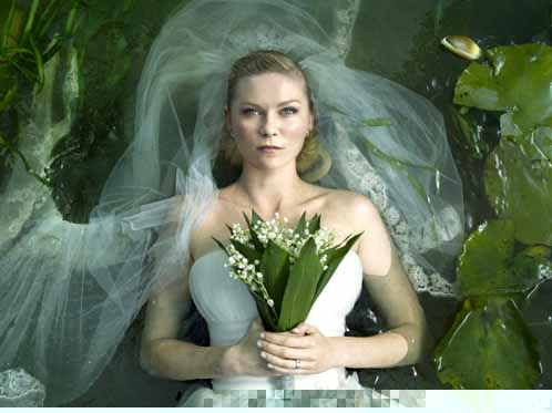 Kirsten Dunst as Justine in Melancholia