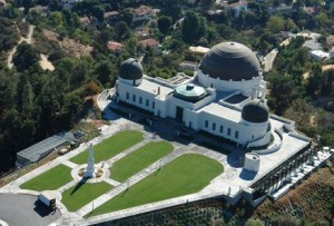 An aerial view of Griffith Observatory by Dax Castro - Licensed under Public Domain via Wikimedia Commons