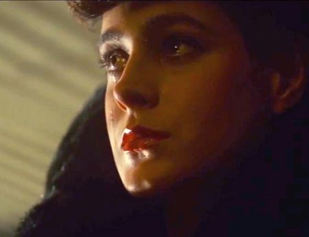 Sean Young as Rachel. Screenshot
