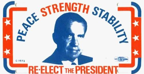 Roger Stone: Nixon poster from the CREEP era