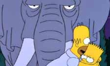 Homer, Bart, and the elephant