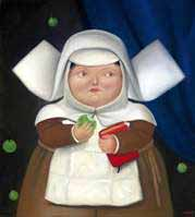Figure 1: Botero's Nun Eating an Apple