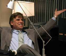 Aaron Sorkin on the set of Social Network