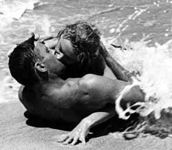 With Burt Lancaster in From Here to Eternity
