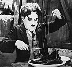 Chaplin in The Gold Rush