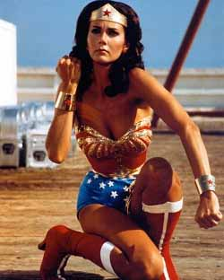 Wonder Woman uses her bracelet