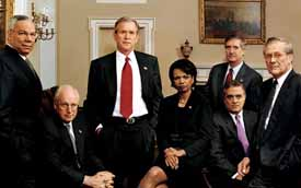 Bush and his cabinet