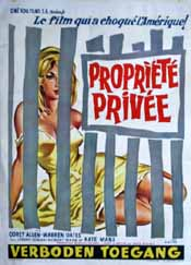 Belgian poster for Private Property