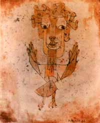 Paul Klee's 'Angelus Novus,' discussed by Walter Benjamin in 'Ninth Thesis on the Philosophy of History'