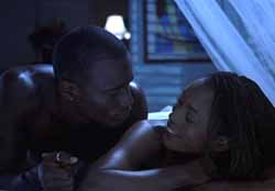 Taye Diggs and Angela Bassett in How Stella Got Her Groove Back