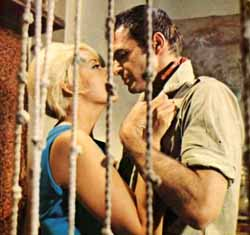 Silvia Pinal and Burt Reynolds