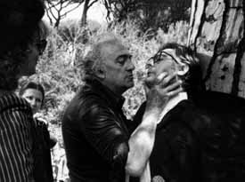 Fellini directing Mastroianni on the set of City of Women