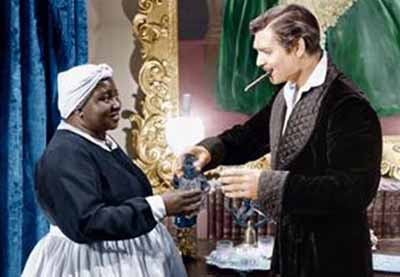Hattie McDaniel and Clark Gable in Gone with the Wind