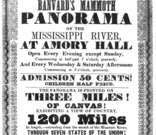 Advertisement for Banvard's Three Mile Painting