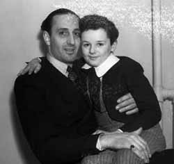 A rare shot of Rathbone and Freddie Bartholomew on the set of David Copperfield