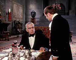 Karloff and Dick Miller in The Terror
