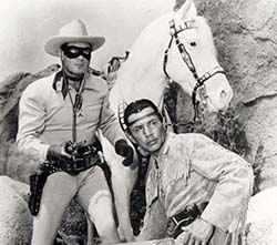 The Lone Ranger, 1950s TV show starring Clayton Moore and Jay Silverheels