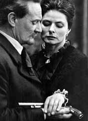 Howard and Ingrid Bergman in a 1963 television production of Hedda Gabler
